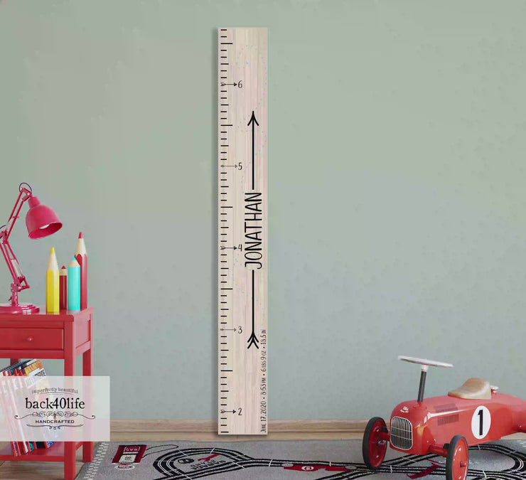 Wooden Kids Growth Height Chart Ruler for Boys and Girls (The Adventure Awaits) - Express Edition