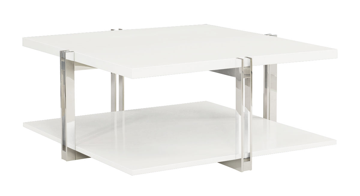 Aria Cocktail Table-Gloss White