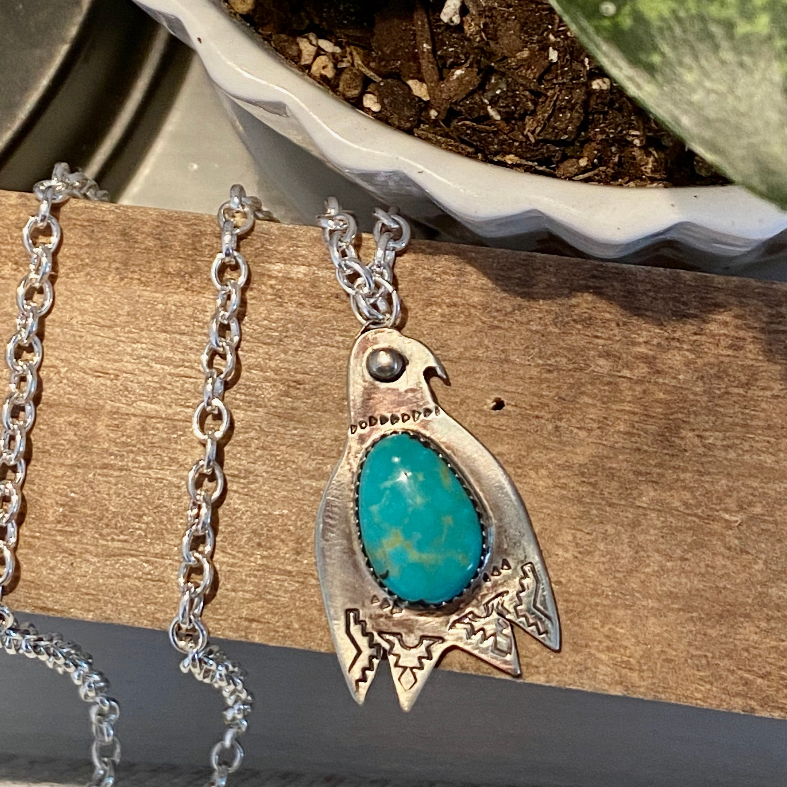 Thunderbird Turquoise Long Necklace