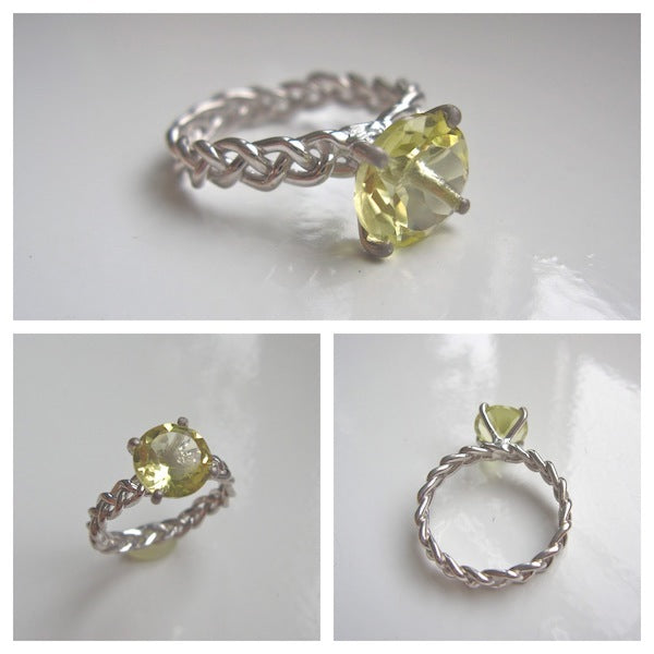 This Lemon Quartz ring was one of the first available in my Etsy shop.