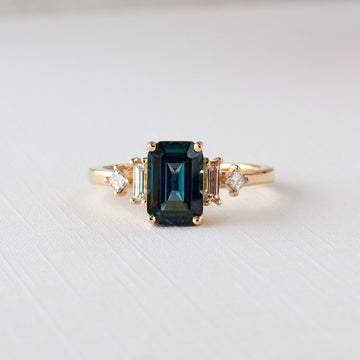 Josie Ring - 2.08ct. Teal Sapphire