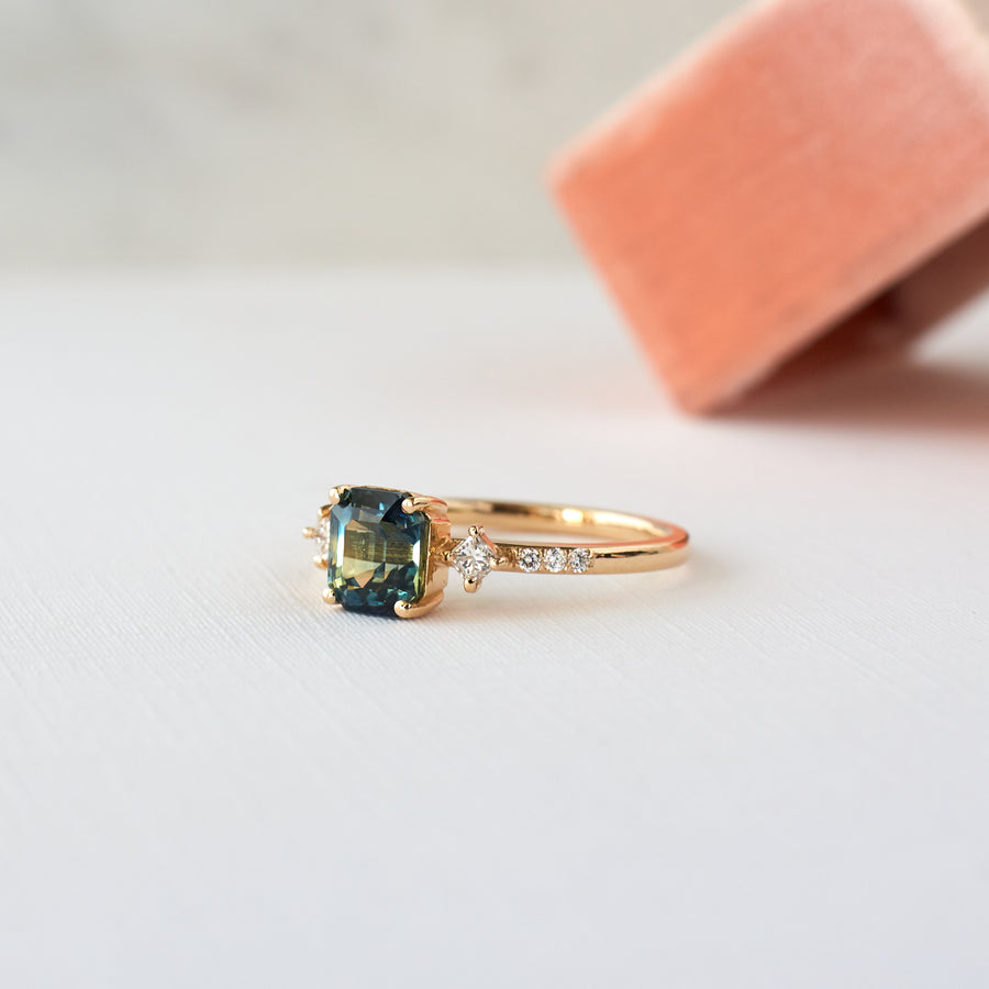 May Ring - 1.61 carat parti sapphire