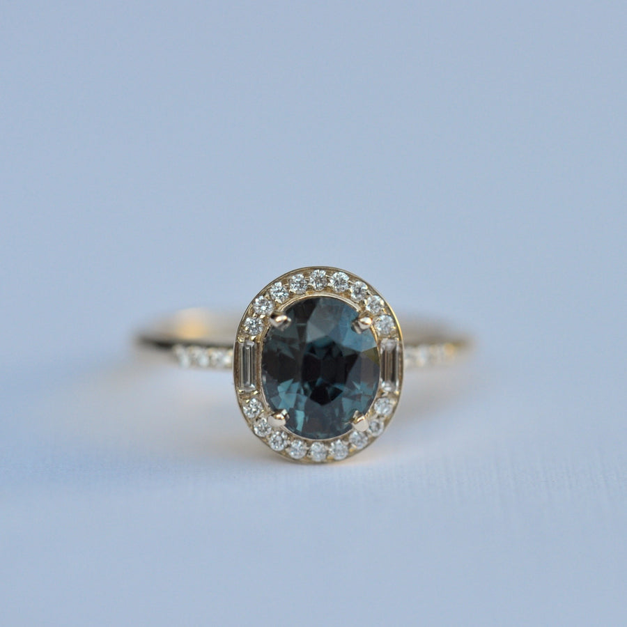 Athena Ring - 2.05ct color shift sapphire