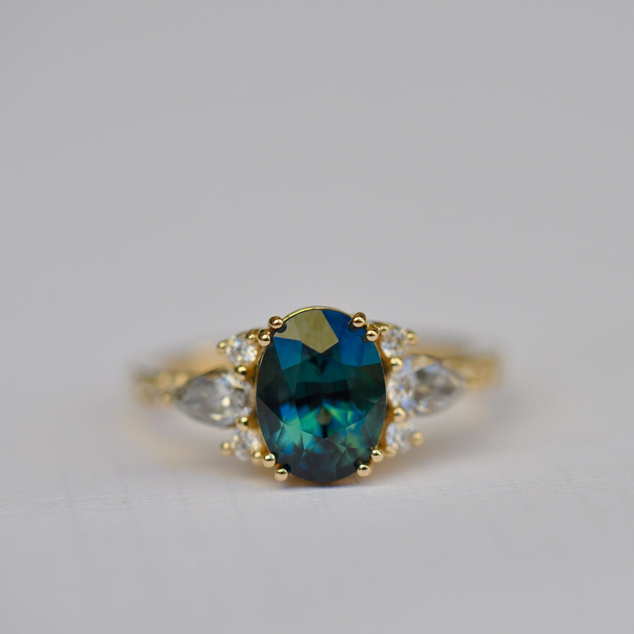 Rosalind Ring - 2.28ct Unheated Sapphire Center