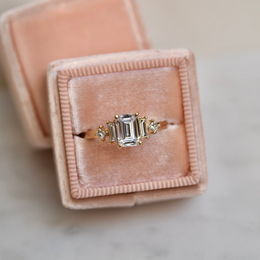 Josie Ring - Emerald Cut Diamond