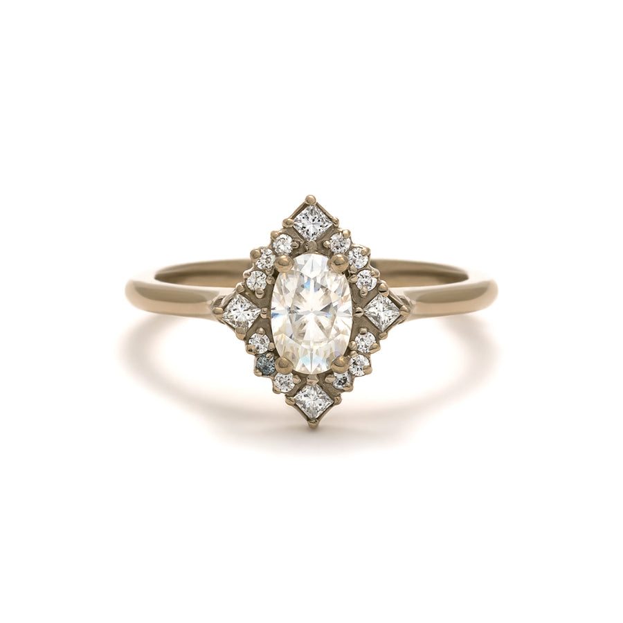 Shown here: the Mirabelle Ring in palladium white gold.