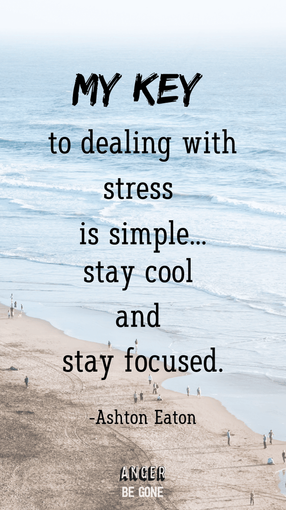 My key to dealing with stress is simple: just stay cool and stay focused. -Ashton Eaton