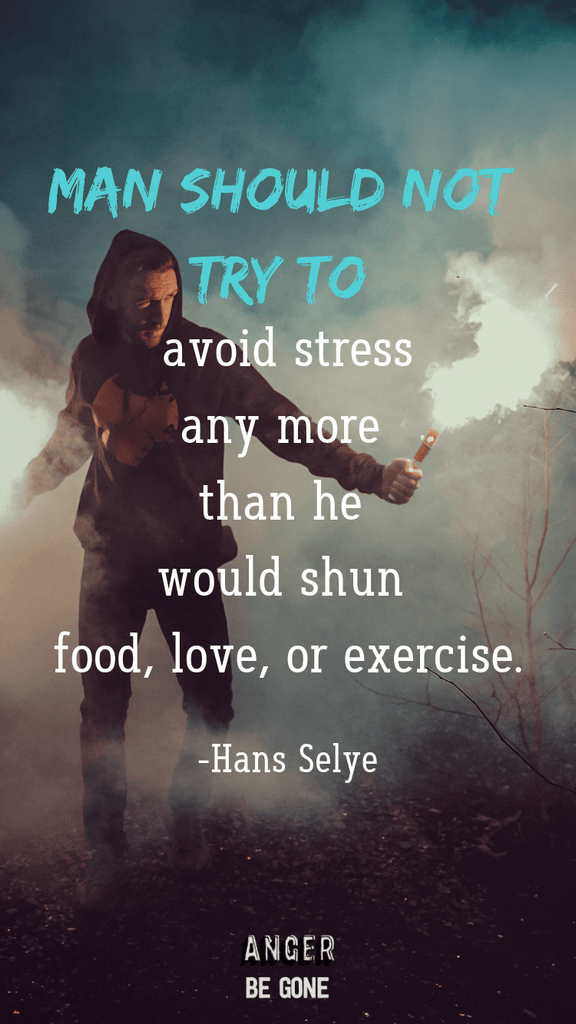 Man should not try to avoid stress any more than he would shun food, love, or exercise. -Hans Selye