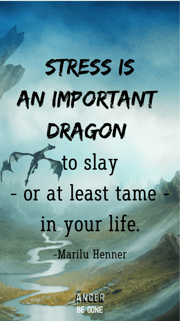 Stress is an important dragon to slay - or at least tame - in your life. -Marilu Henner
