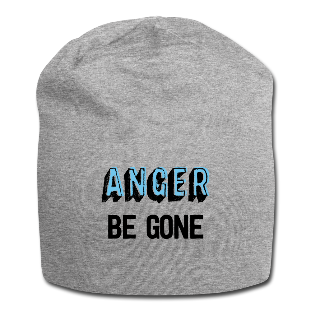 Anger Be Gone Beanie - heather gray