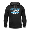 Hibernating, Not Lazy Hoodie - black/asphalt