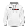 Bad Ass, Not an Asshole Hoodie - white/gray