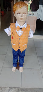 Baby boys party wear shirt, jacket & jeans