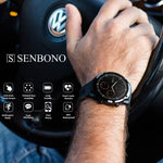 Smart Watch SENBONO S10 Plus Inteiro Touch Esportivo compatível com IOS e Android Monitor Cardíaco