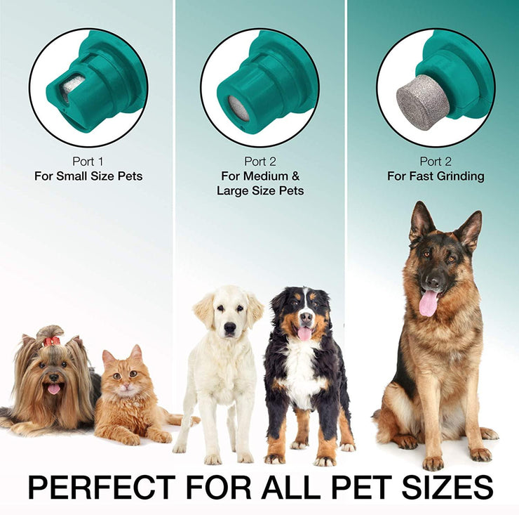 Electric Rechargeable Pet Nail Grinder with Free Nail Clipper - Ruff &