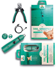 Electric Rechargeable Pet Nail Grinder with Free Nail Clipper - Ruff 'N Ruffus