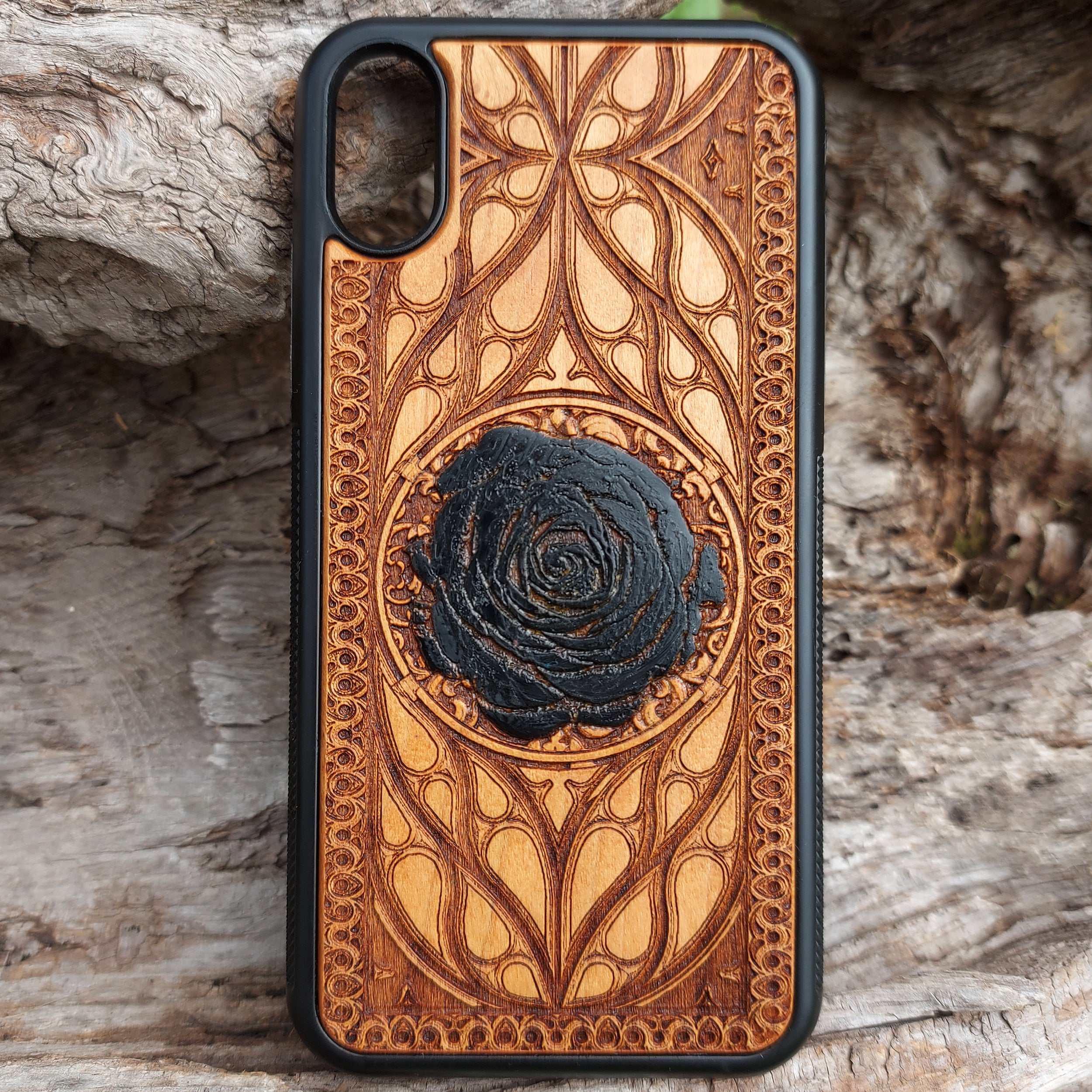 black rose iphone x case