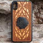 Load image into Gallery viewer, black rose iphone x case