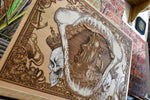 Load image into Gallery viewer, The Shark and The Kings Woodcut
