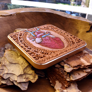 Heart Wireless Charger Hand Painted