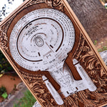 Load image into Gallery viewer, Star Trek Enterprise Ship Hand Painted