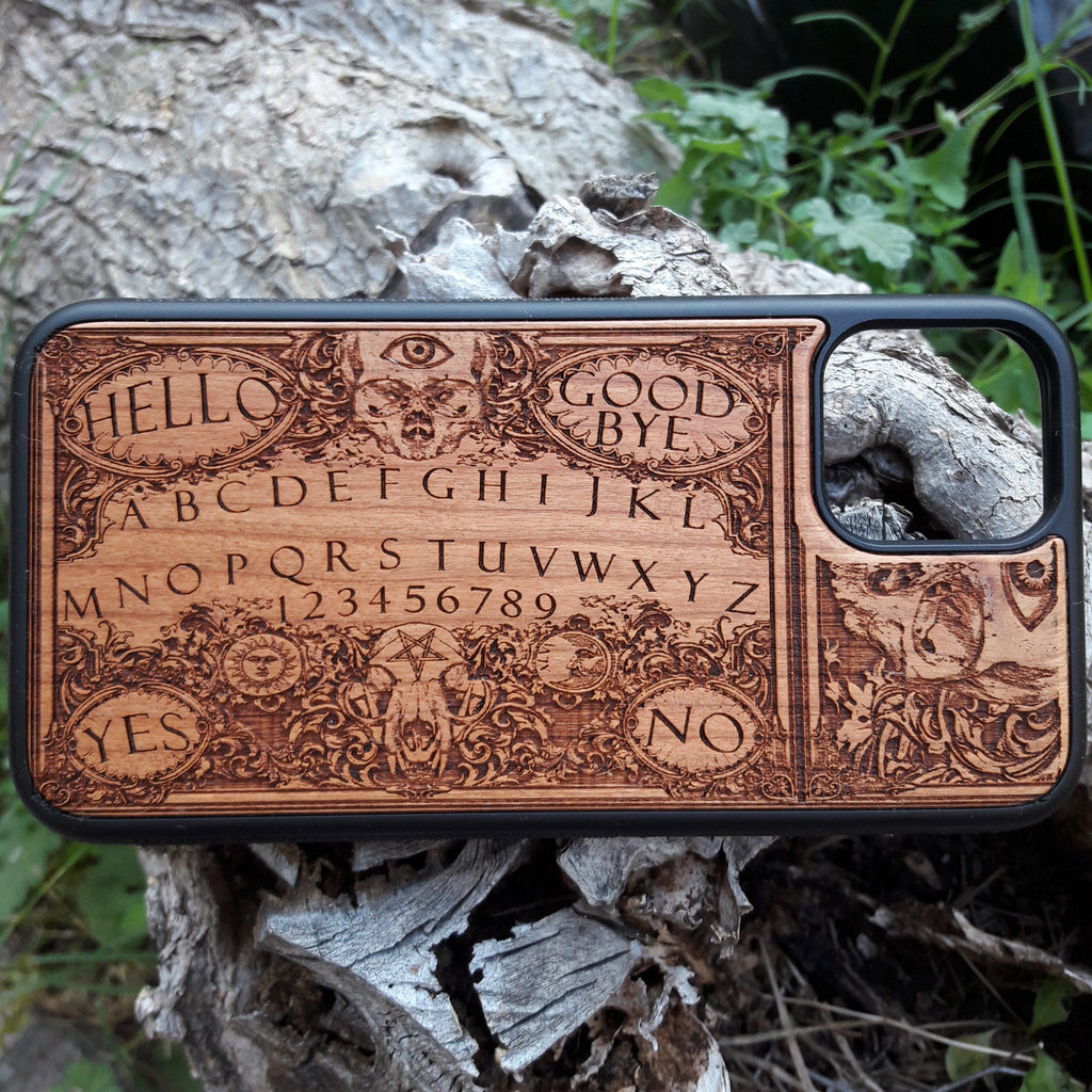 ouija wood phone case