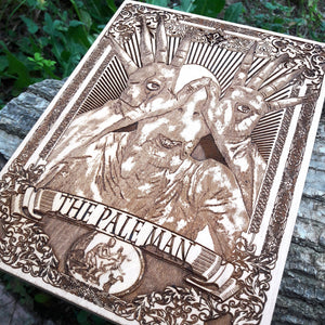The Pale Man Woodcut