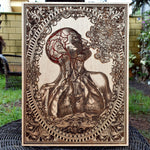 Load image into Gallery viewer, Graduation Gift Medical School, Nurse Graduation, Apothecary Cabinet, Human Anatomy, Anatomy Art, Wood Wall Art, Laser Engraved