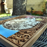 Load image into Gallery viewer, Star Wars Millennium Falcon Wood Art Hand Painted