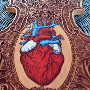 Anatomical Heart Wood Violin