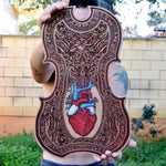Load image into Gallery viewer, Anatomical Heart Wood Violin