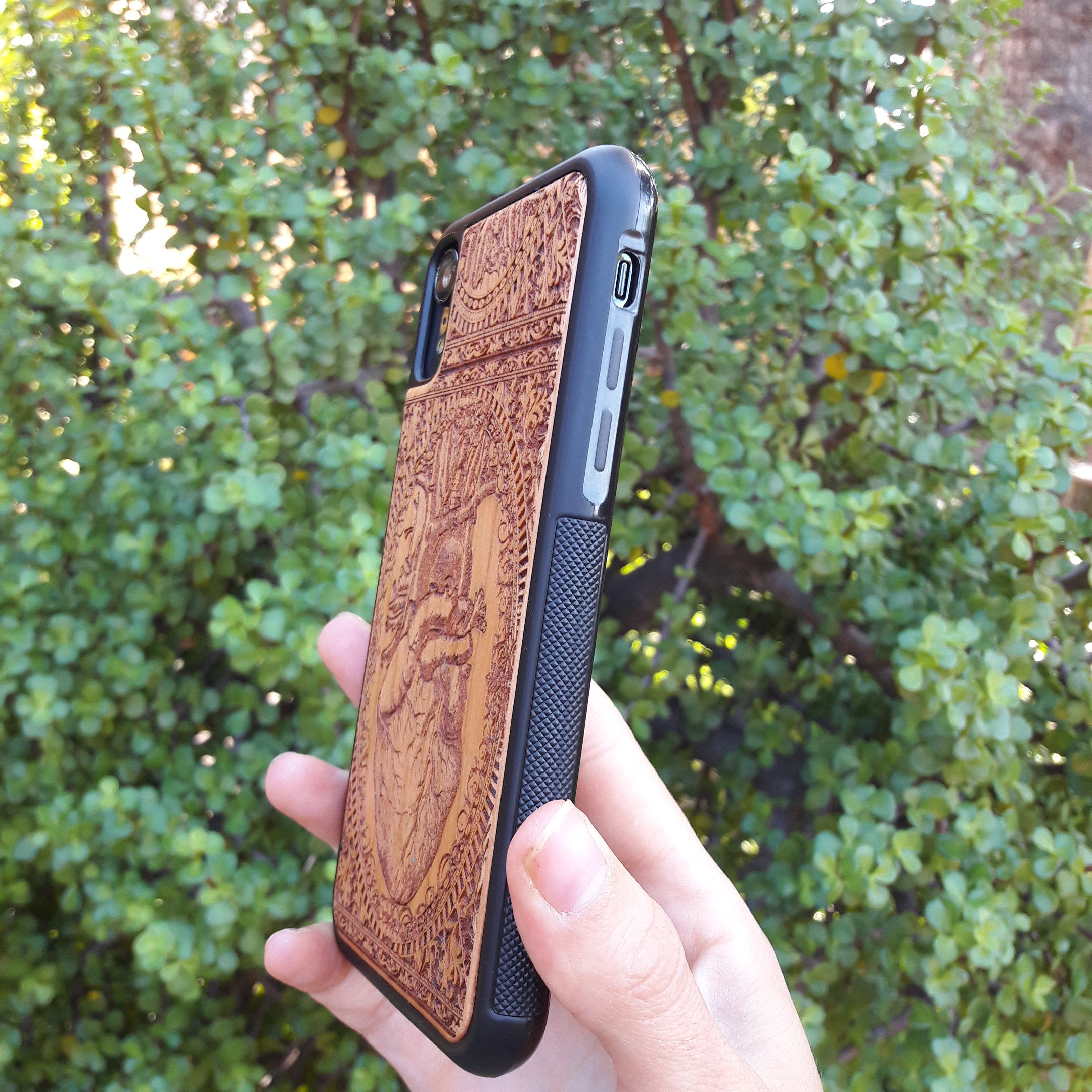 grippy tpu wood phone case