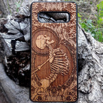 Load image into Gallery viewer, skeleton Wood Phone Case