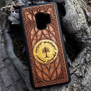 LOTR Lord of the Rings Wood Phone Case