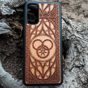 Wheel of Time Wood Phone Case
