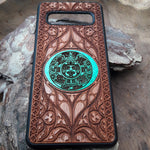 Load image into Gallery viewer, Aztec Calendar Wood Phone Case