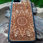Load image into Gallery viewer, mandala wood phone case