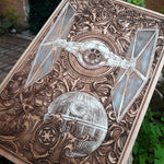 Load image into Gallery viewer, Star Wars Death Star Tie Fighter Art Hand Painted