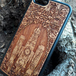 Load image into Gallery viewer, nostromo wood phone case