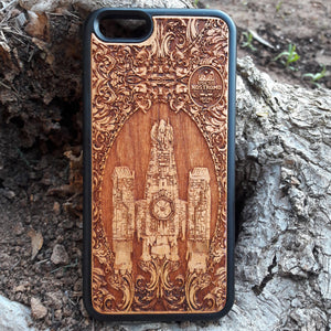 wood iphone SE case