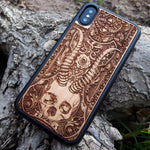 Load image into Gallery viewer, skull wooden iphone cover