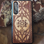 Load image into Gallery viewer, Viking Rune - The Vegvisir Compass Wood Phone Case