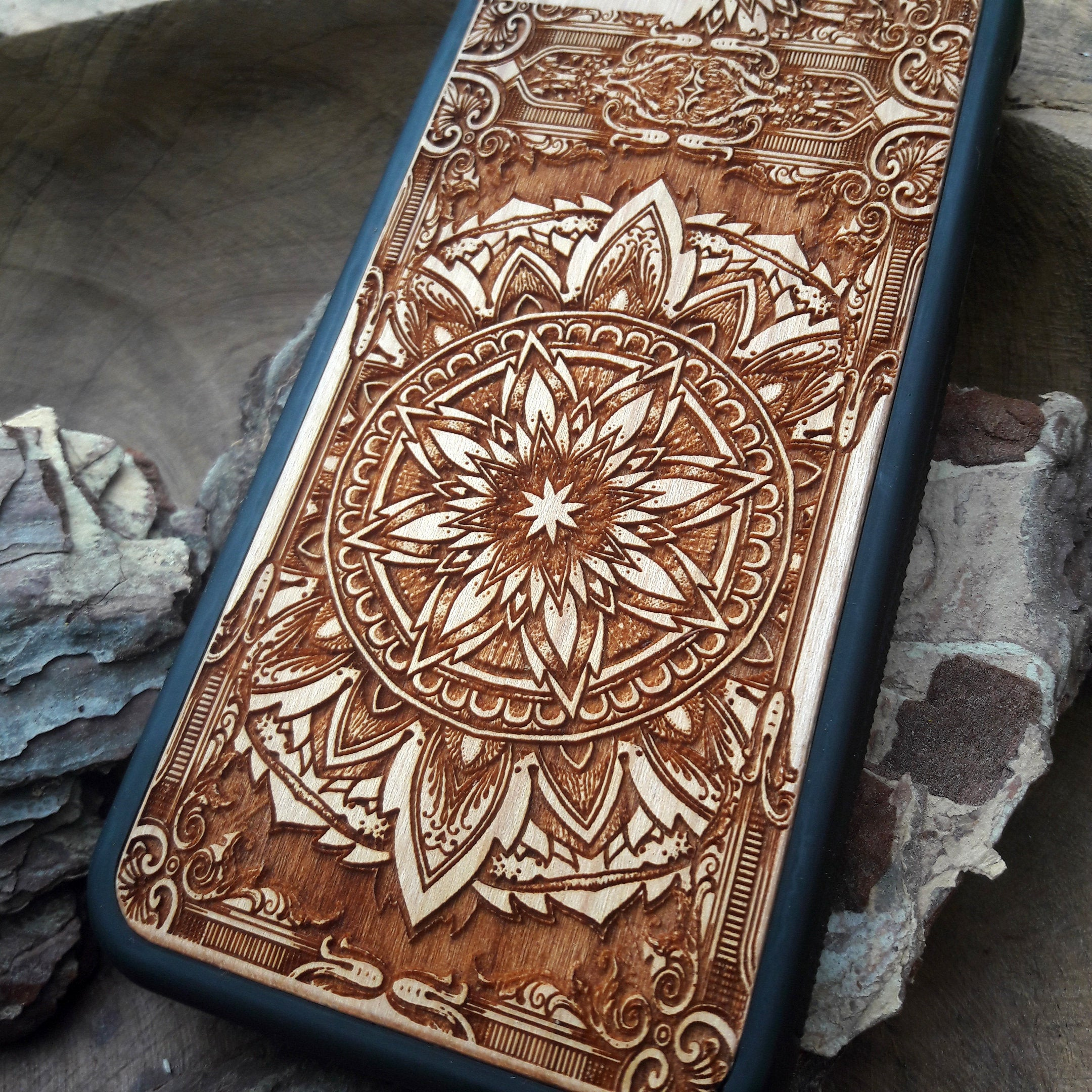 [wood phone case] - [Engravers Dungeon]