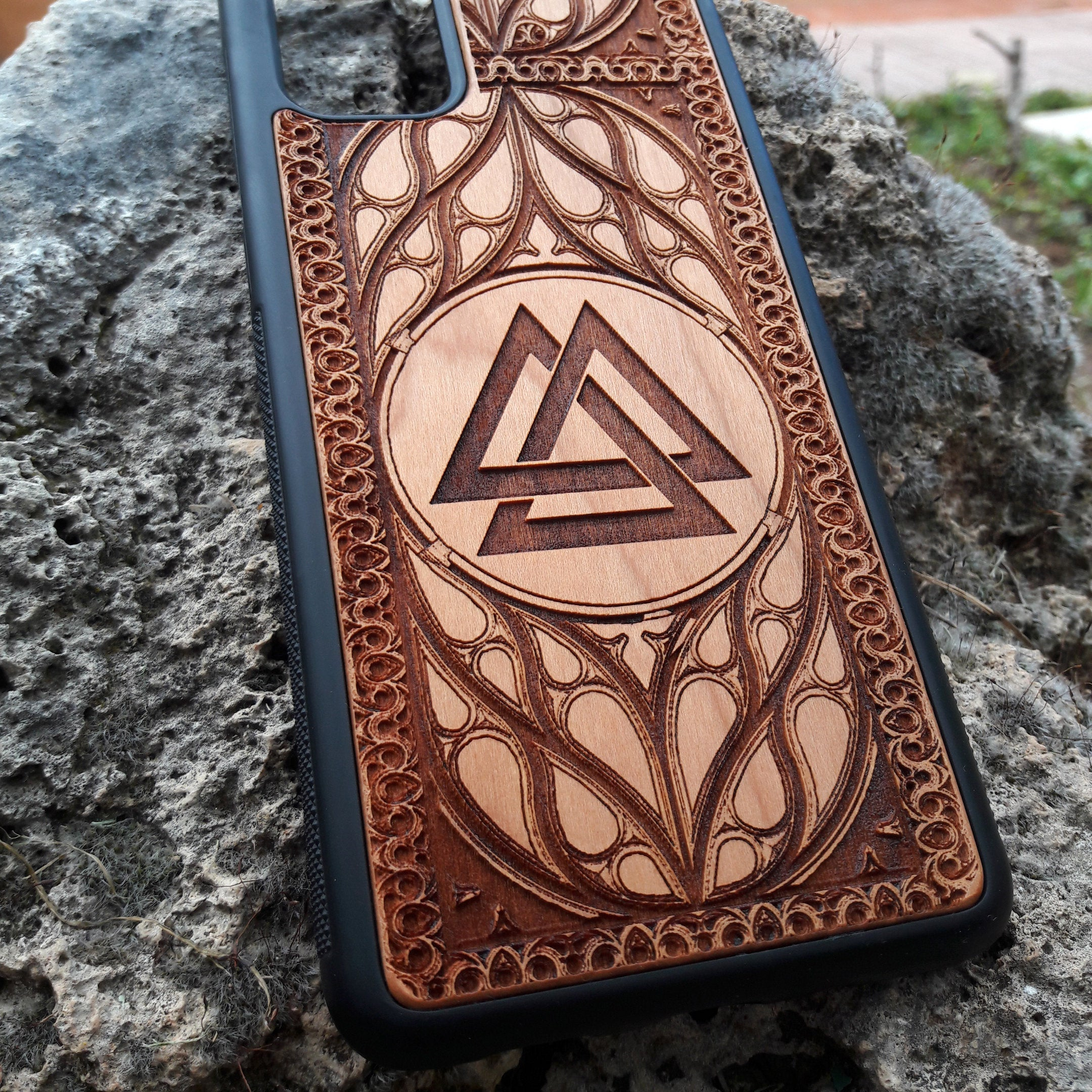 Valknut phone cases fit iPhone, Samsung