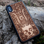 Load image into Gallery viewer, skull wooden iphone case