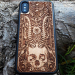 Load image into Gallery viewer, horror wood phone case