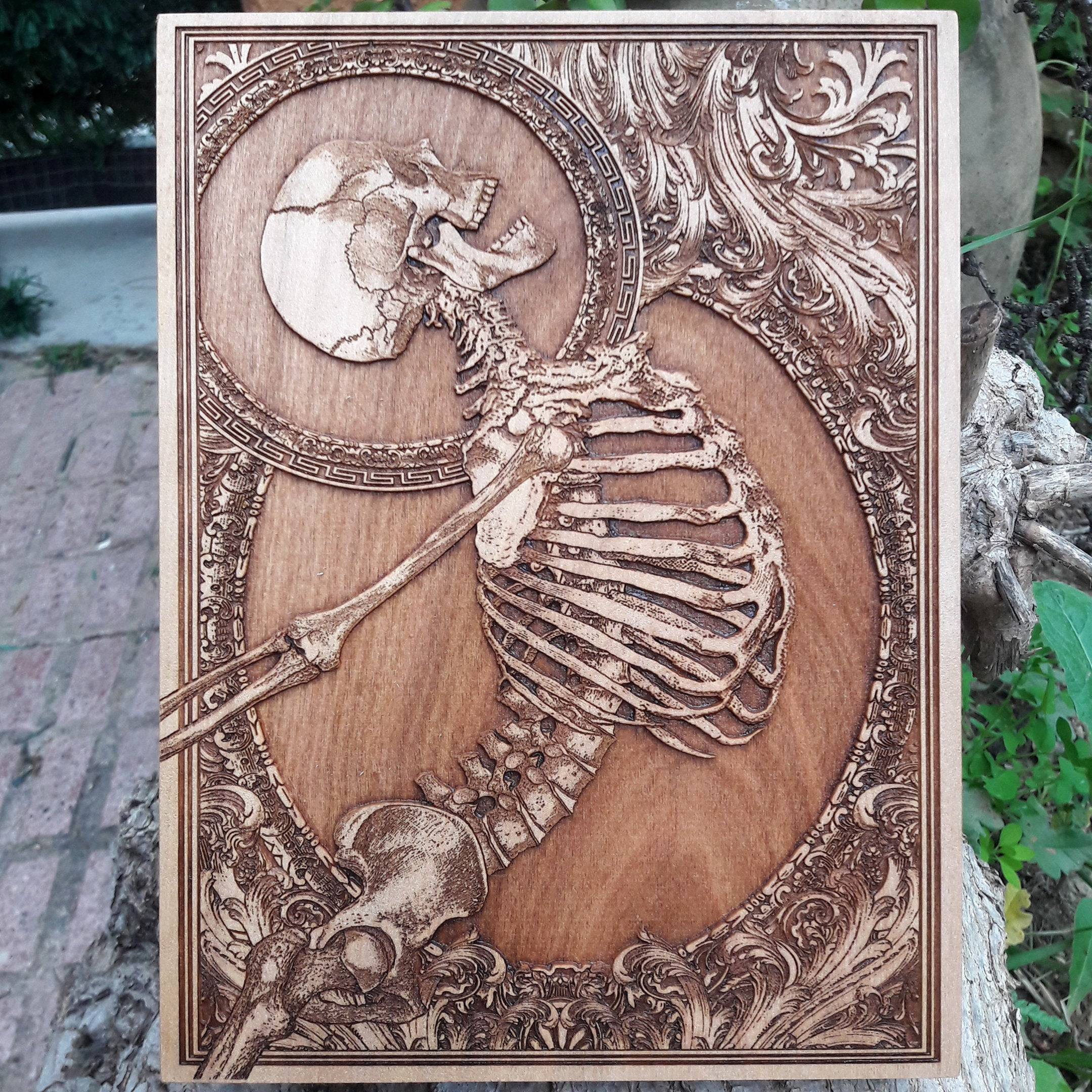 Stumbled Skeleton Art