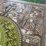Load image into Gallery viewer, Aztec Calendar Woodcut