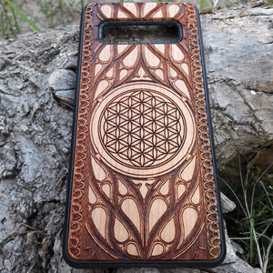 Flower of Life Wood Phone Case