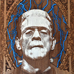 Load image into Gallery viewer, Frankenstein Monster Wooden Poster